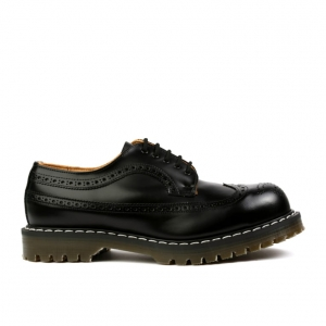 SOLOVAIR 5 EYE BLACK BROGUE STEEL TOE