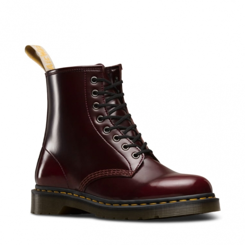 DR MARTENS 1460 VEGAN CHERRY CAMBRIDGE BRUSH